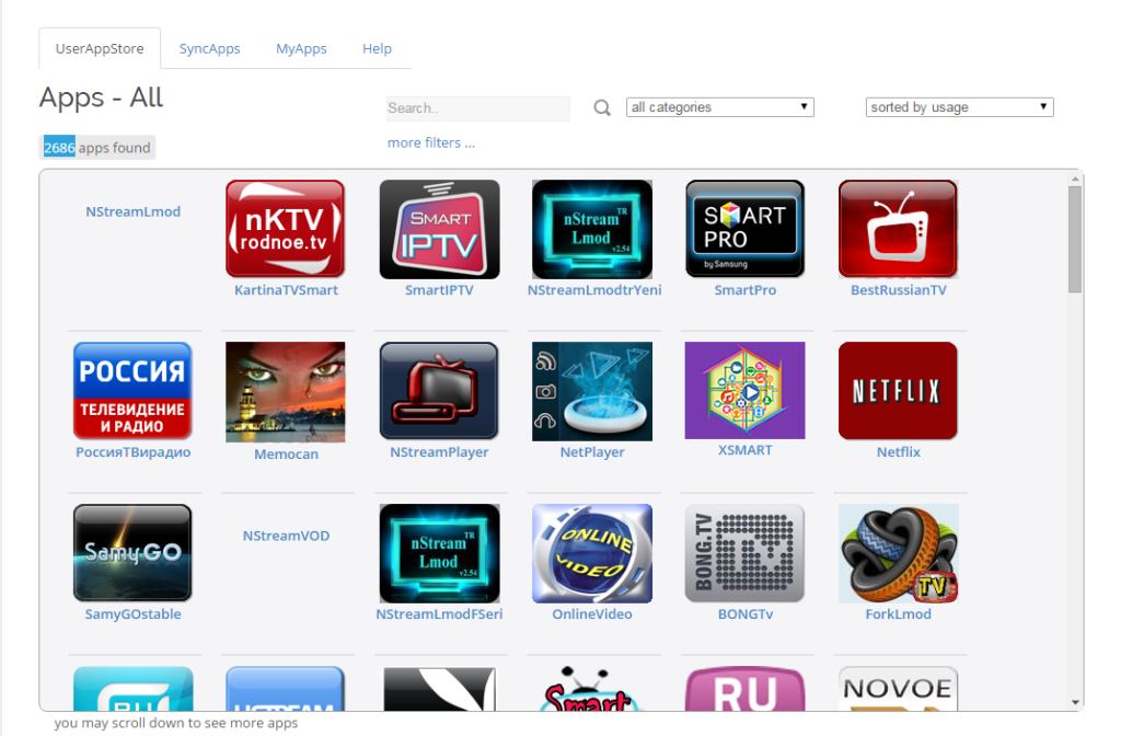 samsung smart tv apps