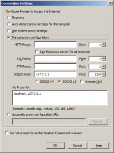 putty ssh socks proxy